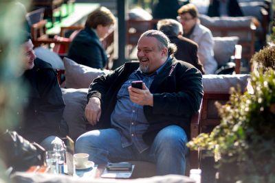 S Kukuruzovićem na terasi Siscije
